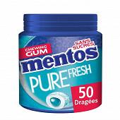 Mentos gum pure fresh menthol eucalyptus ss bottle de 45 dragées 100g