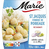 Marie fondue de poireaux riz basmati 280g