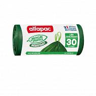 Alfapac sacs poubelle x20 coulissac 30l végétal origin