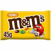 M&m's cacahuète enrobée de chocolat pochon 45g