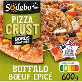 Sodebo Pizza Crust recette buffalo boeuf épicé poivrons grillés 600g