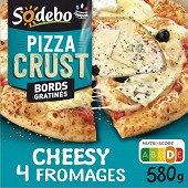 Sodebo Pizza crust recette cheesy 4 fromages 580g