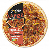 Sodebo la pizza boeuf epice fromages 470g
