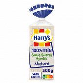 Harrys pain de mie sans sucres ajoutés sans croûte 100% mie nature 500g