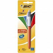 Bic stylo bille 4 couleurs pointe fine
