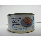 Morceaux de thon listao naturel 1/4 185g