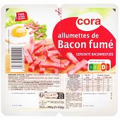 Cora allumettes de bacon fumé 2x100g