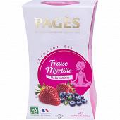 Pagès infusion bio fraise myrtille x20s 40g