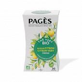 Pages thé vert citron bio x20s 36g