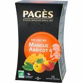 Pages thé vert mangue abricot bio x20s 36g