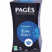 Pages thé earl grey bio x20s 30g