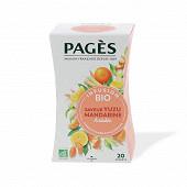 Pages infusion bio yuzu mandarine x20s 30g
