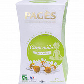 Pages infusion bio camomille x20s 30g