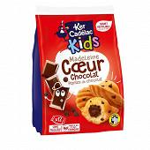 Sachet 12 madeleines coeur chocolat et pepites de chocolat 360g