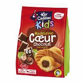 Ker cadelac sachet 12 madeleines coeur chocolat 420g