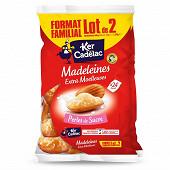 Ker Cadelac madeleines extra moelleuses perles de sucre 2x600g format familial