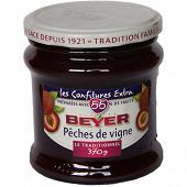 Beyer confiture extra pêches de vigne 370g
