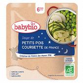 Babybio doypack soupe petits pois courgettes sans gluten  6 mois 190g