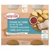 Babynat pot pomme de terre tomate cabillaud sans gluten 6 mois 2 x 200g