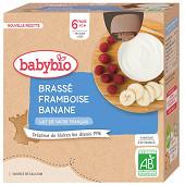 Babybio Gourde Brassé Framboise Banane dès 6 mois 4X85G