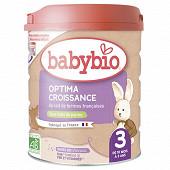 Babybio 3 optima croissance de 10 mois à 3 ans 800g