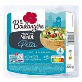 La Boulangère pains pita x4 320g