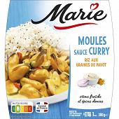 Marie Moules sauce curry & riz au pavot 300g