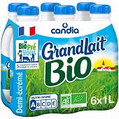 Grandlait bio 1/2 écrémé bouteille 6x1l