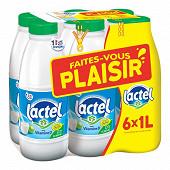 """Lactel lait écrémé 6x1l  """"Faites vous plaisir avec Lactel"""""""