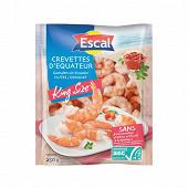 Escal Queues de crevettes décortiquées cuites King Size 20/40 ASC 250g