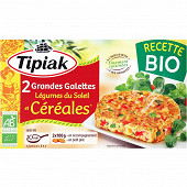Tipiak 2 grandes galettes légumes du soleil et céréales bio 2x100g