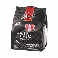 Café Henri elsass café capsules compatibles nespresso 10x5g