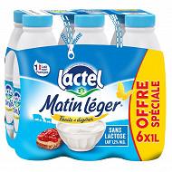 Lactel Matin Léger 1.2% mg bouteille 6x1l offre spéciale