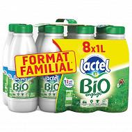 Lactel bio écrème bouteille 8x1l format famlial