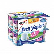 Yoplait petit yoplait fromage frais 0% nature au lait écrémé 12x60 g