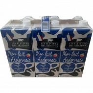 Mon lait ardennais 1/2 écrémé 6x1l