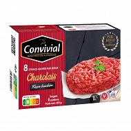 Convivial steak haché Charolais façon bouchère 15% mg 8x100g