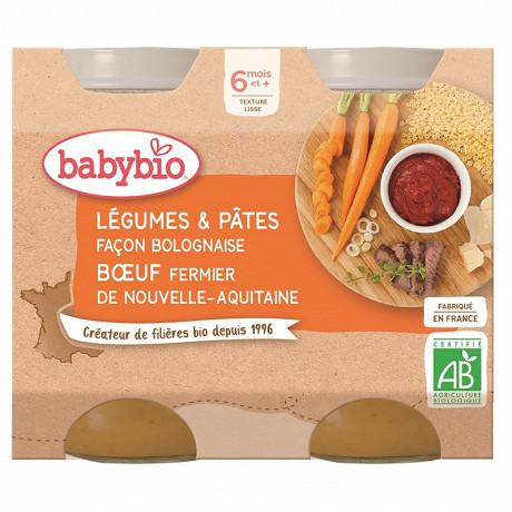 Babybio pot légumes pâtes façon bolognaise 6 mois 2 x 200g