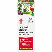 So Bio étic baume osteo+ bien être articulaire bio 75ml