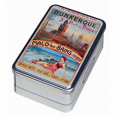 La dunkerquoise coffret métal wagon-lit de gaufres fines pur beurre 400g