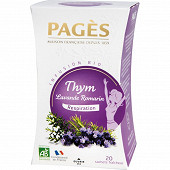 Pages infusion bio thym lavande romarin x20s 30g