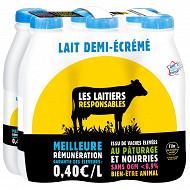 Grandlait Les laitiers responsables 1/2 écrémé 6x1l