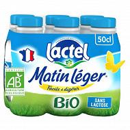 Lactel Matin Léger bio 1.2% mg uht bouteille 6x50cl