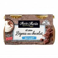 Marie Morin liégeois au chocolat au lait 2x130g