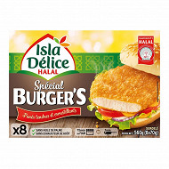 Isla Délice spécial burger volaille x8 560g