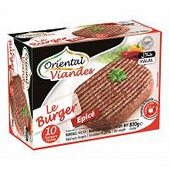 Oriental viandes le burger épice surgelés halal 20% mg 10 x 80 g