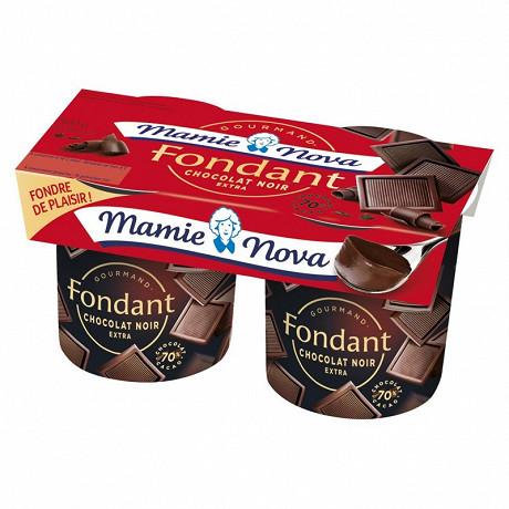 Mamie Nova dessert lacté fondant chocolat noir extra 2x150 g