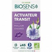 Biosens gélules végétales activateur transit bio étui + pilulier 24g