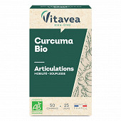 Vitavea curcuma bio 50 comprimés 29g