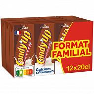 Candy'up chocolat boisson lactée brique 12x20cl format familial